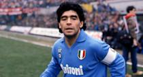 Argentinian football legend Diego Maradona died aged 60 in November following a heart attack. The sporting star famously captained his nation's team in the 1986 World Cup, where in the quarter final he scored the famous 'Hand of God' goal against England. (Photo by Alessandro Sabattini/Getty Images)