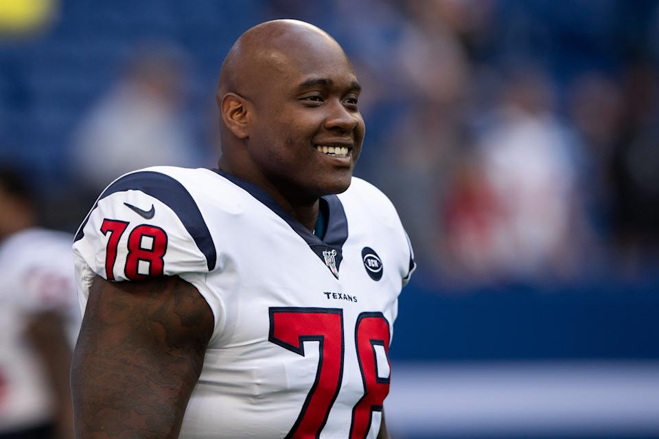 Laremy Tunsil is now the highest-paid offensive lineman in NFL history. (Zach Bolinger/Getty Images)