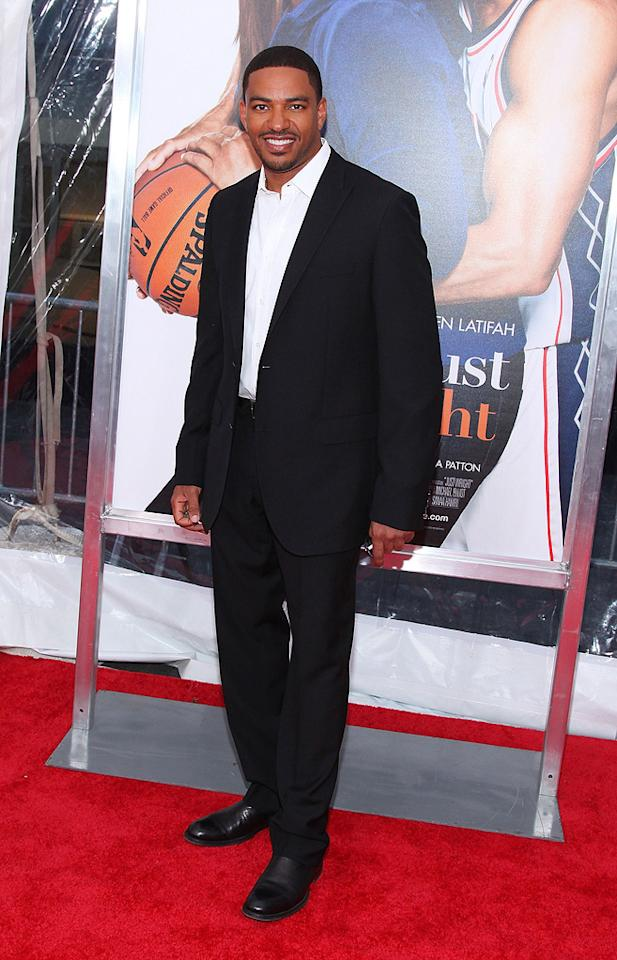 """<a href=""""http://movies.yahoo.com/movie/contributor/1808436881"""">Laz Alonso</a> at the New York City premiere of <a href=""""http://movies.yahoo.com/movie/1810088527/info"""">Just Wright</a> - 05/04/2010"""
