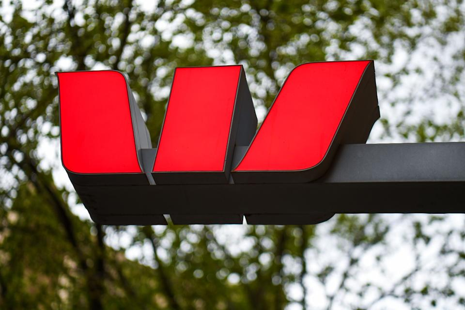 Signage on a Westpac bank is displayed in Melbournes central business district on September 24, 2020. (Photo by William WEST / AFP) (Photo by WILLIAM WEST/AFP via Getty Images)