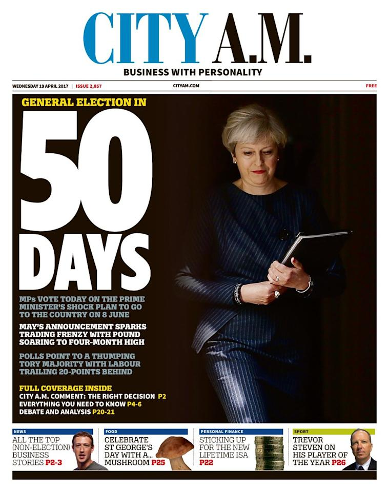 <p>City AM kicked off a countdown to the election on 8 June. </p>