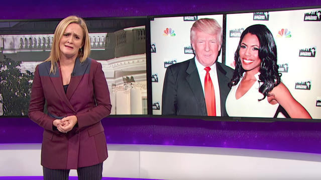 Samantha Bee Delivers Blistering Assessment Of Trump's 'Chaos Muppet' Omarosa