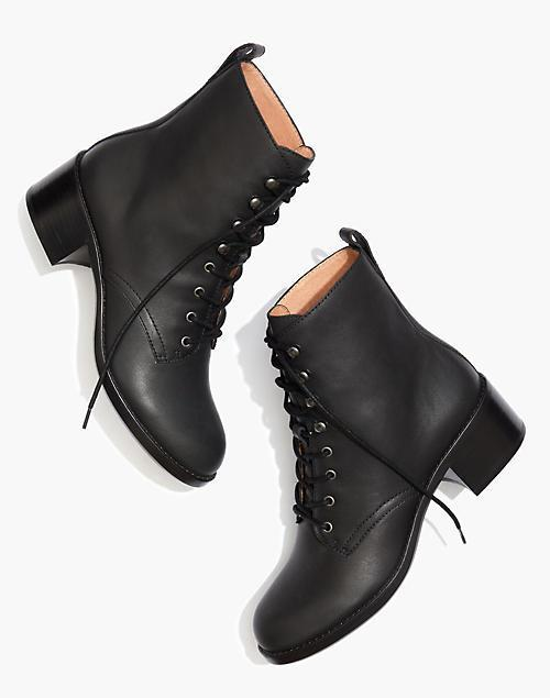 """<br><br><strong>Madewell</strong> The Patti Lace-Up Boot, $, available at <a href=""""https://go.skimresources.com/?id=30283X879131&url=https%3A%2F%2Fwww.madewell.com%2Fthe-patti-lace-up-boot-AA202.html%3Fcolor%3DBK5229"""" rel=""""nofollow noopener"""" target=""""_blank"""" data-ylk=""""slk:Madewell"""" class=""""link rapid-noclick-resp"""">Madewell</a>"""