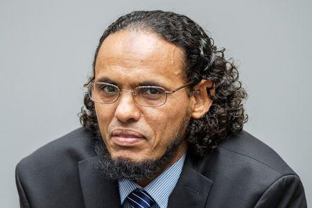 Ahmad al-Faqi al-Mahdi appears at the International Criminal Court in The Hague