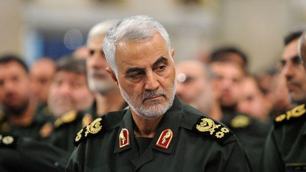 PHOTO: Iranian Quds Force commander Qasem Soleimani attends Iranian supreme leader Ayatollah Ali Khamenei's meeting with the Islamic Revolution Guards Corps in Tehran, Iran, Sept. 18, 2016. (Handout via Anadolu Agency/Getty Images, FILE)