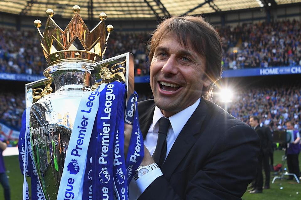 Antonio Conte won the Premier League title in his first season at Chelsea, then slumped to fifth place in year No. 2. (Getty)