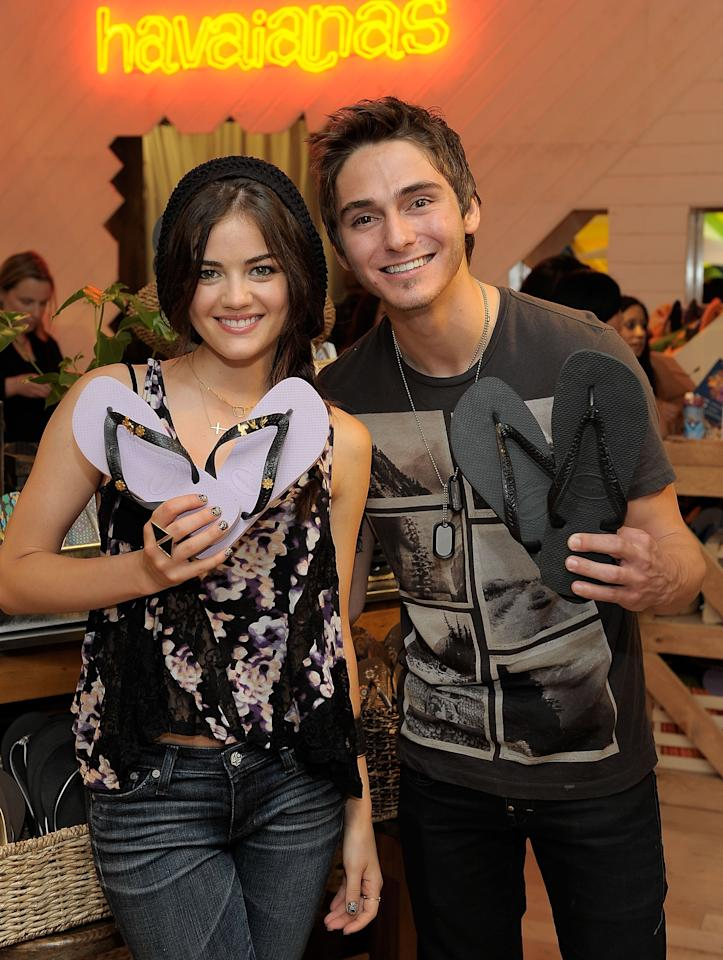"<p>Soon after the premiere of <strong>Pretty Little Liars</strong>, Lucy sparked dating rumors with The Cab keyboard player Alex Marshall. <a href=""http://www.wetpaint.com/are-lucy-hale-and-alex-marshall-dating-661298/"" target=""_blank"" class=""ga-track"" data-ga-category=""Related"" data-ga-label=""http://www.wetpaint.com/are-lucy-hale-and-alex-marshall-dating-661298/"" data-ga-action=""In-Line Links"">Hale seemingly confirmed the relationship</a> when she tweeted, ""He bought me a rose,"" alongside a picture of the two of them in October 2010, but the two only lasted for a few months after that before going their separate ways. </p>"