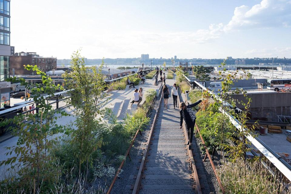 """<p><strong>Let's start big picture. What's the vibe here?</strong><br> The High Line is a perfect example of what New York City does best: cleverly rehabs old spaces into exactly what you want them to be. When a 1.45-mile-long abandoned freight rail on Manhattan's West End was transformed into an elevated, mixed-use public park in 2009, New Yorkers came running. Towering 30 feet above buzzing 11th Avenue, the High Line is a masterful feat of landscape architecture that melds walkways, benches, and chaise lounges with grass, perennials, trees, and bushes in perfect unkempt-kempt harmony. In many places, the High Line's original railroad tracks remain, hidden among planting beds like discreet remnants of Old New York that seem to say, """"change all you want, but we're not going anywhere.""""</p> <p><strong>Any standout features or must-sees?</strong><br> The beauty of New York City's urban landscape is on full display at the High Line, as is a wide array of original artwork, curated by Friends of the High Line, the non-profit conservancy that oversees maintenance, operations, and programming (in partnership with the New York City Department of Parks & Recreation). The High Line's public arts program showcases emerging talents from across the globe, including Henry Taylor, Sheila Hicks, Larry Bamburg, Guan Xiao, Marguerite Humeau, and Max Hooper Schneider. Some pieces are more prominent than others, so keep your eyes peeled as you amble along, and don't consider your visit one-and-done, as the exhibitions are on constant rotation.</p> <p><strong>Was it easy to get around?</strong><br> You really can't get lost exploring the High Line (it's linear; the only directions it runs are north and south). Enter on the street level at 34th street or climb the stairs/take a handicap-accessible elevator at one of the other five entrances (Gansevoort Street, 14th Street, 16th Street, 23rd Street, and 30th Street). Just don't expect to traverse the High Line at top speed; it's often crow"""