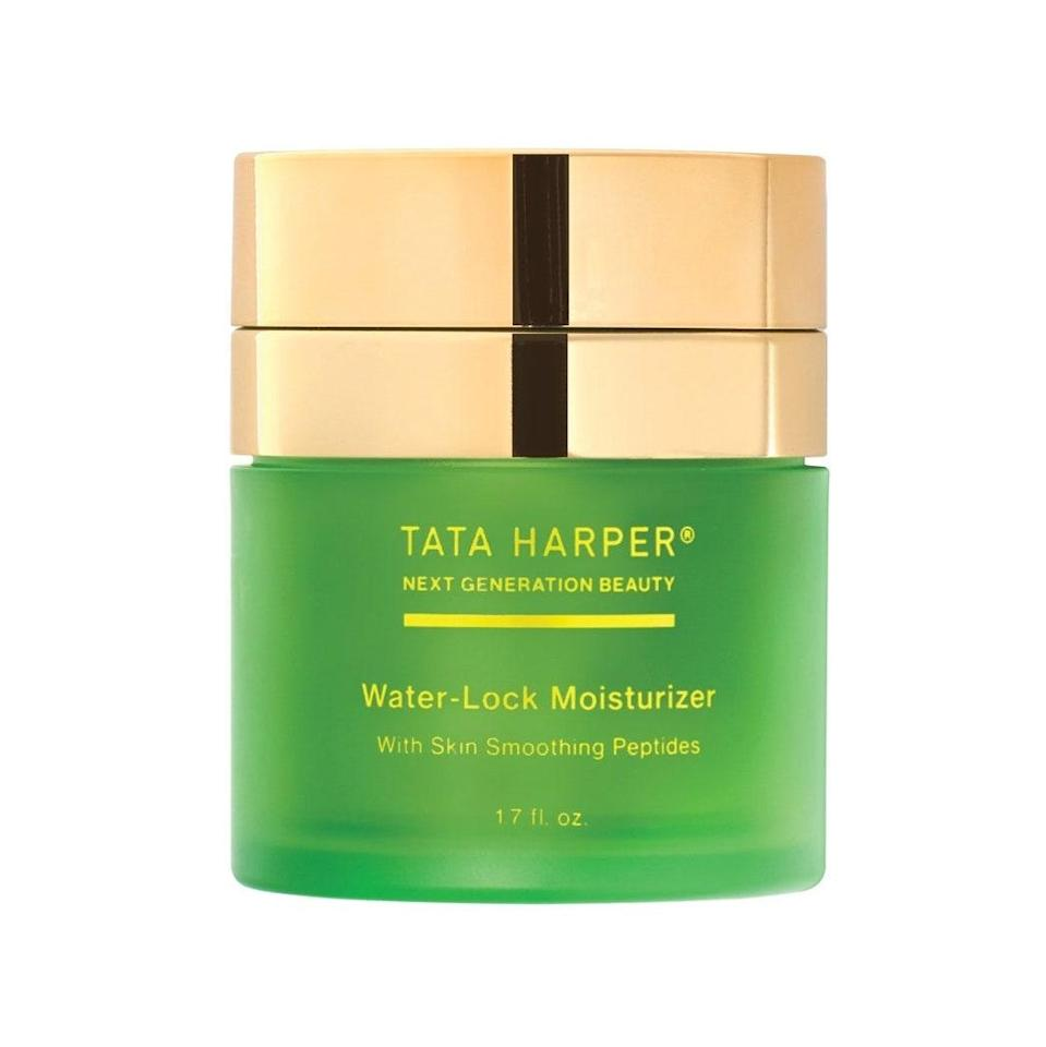 """<p>Tata Harper may have left pore-cloggers out of its lightweight Water-Lock Moisturizer, but it didn't skimp on some of the most effective and luxurious components. <a href=""""https://www.allure.com/gallery/the-secret-ingredients-to-great-skin?mbid=synd_yahoo_rss"""" rel=""""nofollow noopener"""" target=""""_blank"""" data-ylk=""""slk:Its peptides"""" class=""""link rapid-noclick-resp"""">Its peptides</a>, for example, prove you don't have to choose between smooth skin and grease-fighting ingredients. In addition to priming skin for any additional skin-care or makeup steps, it also addresses dullness so skin can get glowing ASAP.</p> <p><strong>$68</strong> (<a href=""""https://shop-links.co/1706973691857264895"""" rel=""""nofollow noopener"""" target=""""_blank"""" data-ylk=""""slk:Shop Now"""" class=""""link rapid-noclick-resp"""">Shop Now</a>)</p>"""