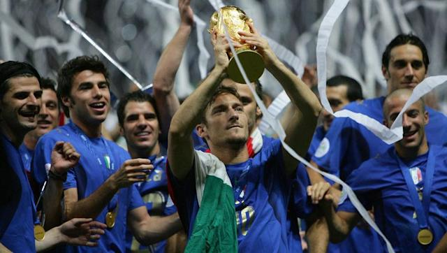 <p>The Calciopoli scandal engulfed Italian football in 2006, and the Azzurri went to that summer's World Cup in Germany with their national game in tatters. </p> <br><p>Juventus were later relegated, while the likes of AC Milan, Lazio and Fiorentina were also handed hefty punishments in a match-fixing scandal that'll never be forgotten. Italy's players, though, managed to pull together and win the entire tournament for the first time since 1982.</p> <br><p>Totti featured in all seven games his side played at the tournament, despite being forced to play with metal plates in his ankle that had yet to be removed following a surgery prior to the tournament. </p> <br><p>It was the crowning achievement of a golden generation of Italian stars, which also featured the likes of Andrea Pirlo, Alessandro Del Piero, Fabio Cannavaro and Gianluigi Buffon.</p>