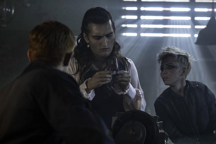 """Jo Eaton-Kent as Cpl. Cheery and Marama Corlett as Cpl. Angua in BBC America's """"The Watch."""""""