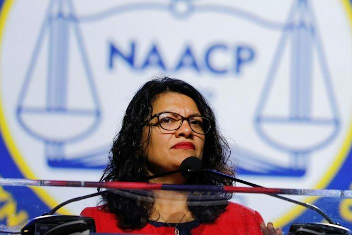 First-term US House Democrat Rashida Tlaib, one of the first two Muslim women to serve in Congress, became a focus of international controversy when Israel denied her entry to the Jewish state and Palestinian territories on a congressional visit (AFP Photo/BILL PUGLIANO)