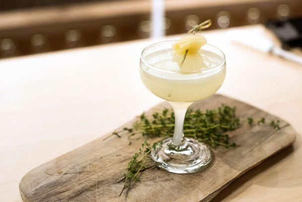 PHOTO: Spice things up with this ginger, lemon and mezcal 'smokeshow' cocktail. (The Botanist Gin)