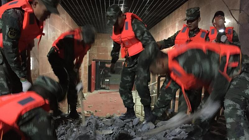 Rescuers are searching for survivors after a quake in Sichuan province killed at least 19 people.