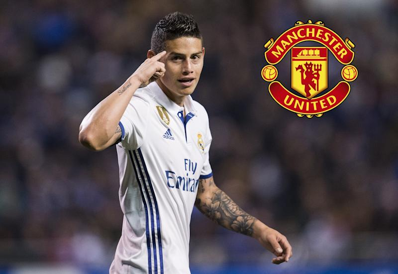buy online e4ba3 4e661 Manchester United have already discussed James Rodriguez ...