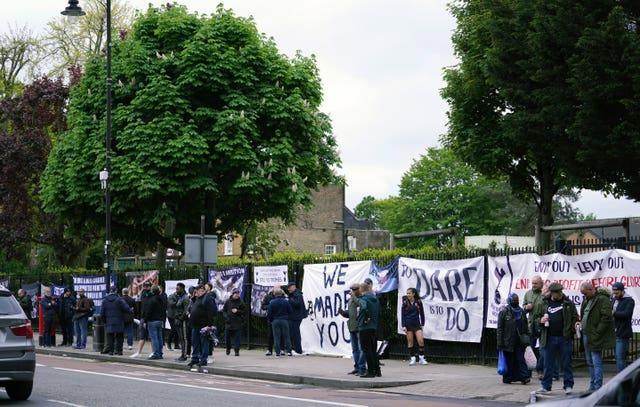 Tottenham fans protested against chairman Daniel Levy and the club's owners last season