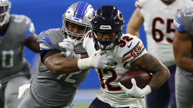 Chicago Bears running back David Montgomery starred in the win over the Lions in Detroit