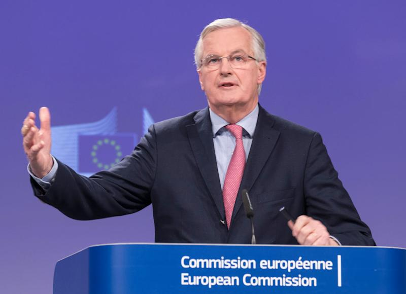European Chief Negotiator for the United Kingdom Exiting the European Union Michel Barnier gives a press briefing. (Getty)
