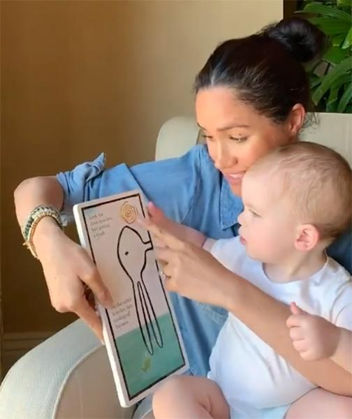 meghan-markle-and-archie-reading