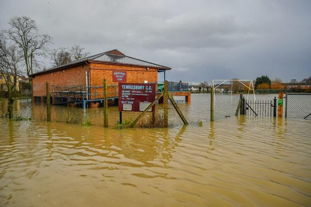Tewkesbury Cricket Club was also flooded (Ben Birchall/PA)