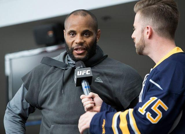 """UFC light heavyweight champion Daniel Cormier made weight on his second attempt Friday for his Saturday bout with <a class=""""link rapid-noclick-resp"""" href=""""/nfl/players/28097/"""" data-ylk=""""slk:Anthony Johnson"""">Anthony Johnson</a> in Buffalo, N.Y. (Getty Images)"""