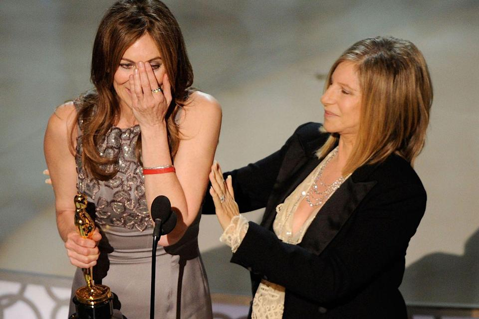"<p>Kathryn Bigelow became the first woman ever to win the Best Director Oscar for her work on <em><a href=""https://www.amazon.com/dp/B0030MKGKY?ref=sr_1_1_acs_kn_imdb_pa_dp&qid=1547580540&sr=1-1-acs&autoplay=0&tag=syn-yahoo-20&ascsubtag=%5Bartid%7C10055.g.5132%5Bsrc%7Cyahoo-us"" rel=""nofollow noopener"" target=""_blank"" data-ylk=""slk:The Hurt Locker"" class=""link rapid-noclick-resp"">The Hurt Locker</a></em>. She beat ex-husband James Cameron in the category.</p>"