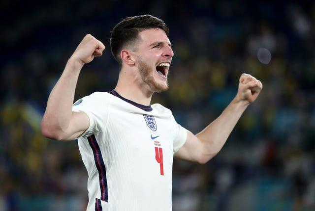 Declan Rice was a mainstay in Gareth Southgate's midfield.
