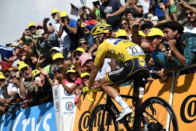 Alaphilippe will be in yellow for an 11th day on Sunday (AFP Photo/Anne-Christine POUJOULAT)