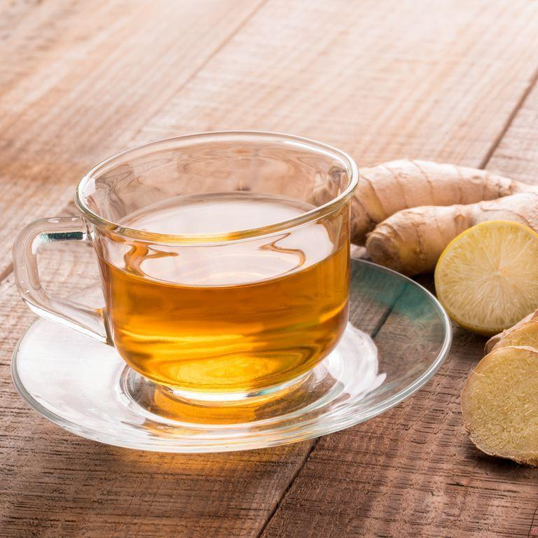 """<p>If your headaches are accompanied by nausea, ginger should be your best friend. """"Ginger is a really good, natural, <a href=""""https://www.ncbi.nlm.nih.gov/pmc/articles/PMC4818021/"""" rel=""""nofollow noopener"""" target=""""_blank"""" data-ylk=""""slk:anti-nausea food"""" class=""""link rapid-noclick-resp"""">anti-nausea food</a>,"""" says Dr. Parikh. If you're having trouble keeping solids down, she says, it can be especially helpful to add sliced ginger to water. That way you can combat the nausea and stay hydrated at the same time.</p>"""