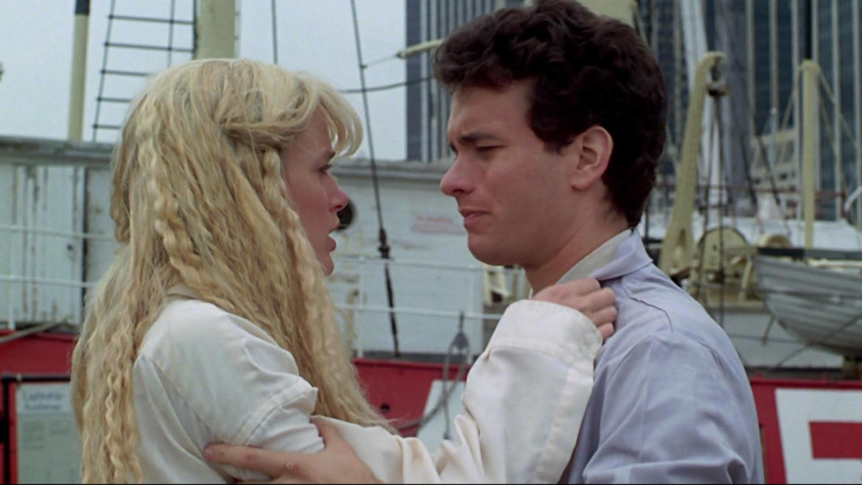 Tom Hanks and Daryl Hannah were praised for their chemistry in the 1984 romcom 'Splash'. (Buena Vista Pictures)