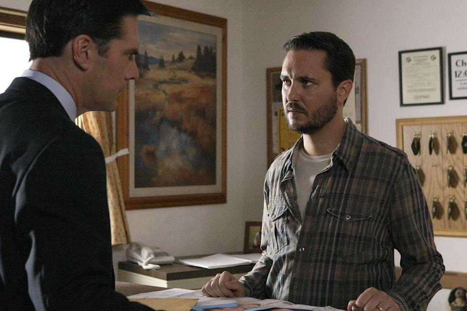 "<p>Wil Wheaton was every traveler's worse nightmare as Floyd Hansen, a hotel owner who enjoyed torturing and beating his guests to death. To make matters harder for the BAU, after killing his victims, Floyd would stage their deaths to look like car accidents. <br></p><p>""I'm really proud of this episode and my work in it,"" Wil wrote on his <a href=""http://wilwheaton.net/2008/10/reminder-im-on/"" rel=""nofollow noopener"" target=""_blank"" data-ylk=""slk:blog"" class=""link rapid-noclick-resp"">blog</a>. ""I felt great when we shot it, like I'd done what the script demanded, and everyone seemed very happy with the quality of the work.""</p>"