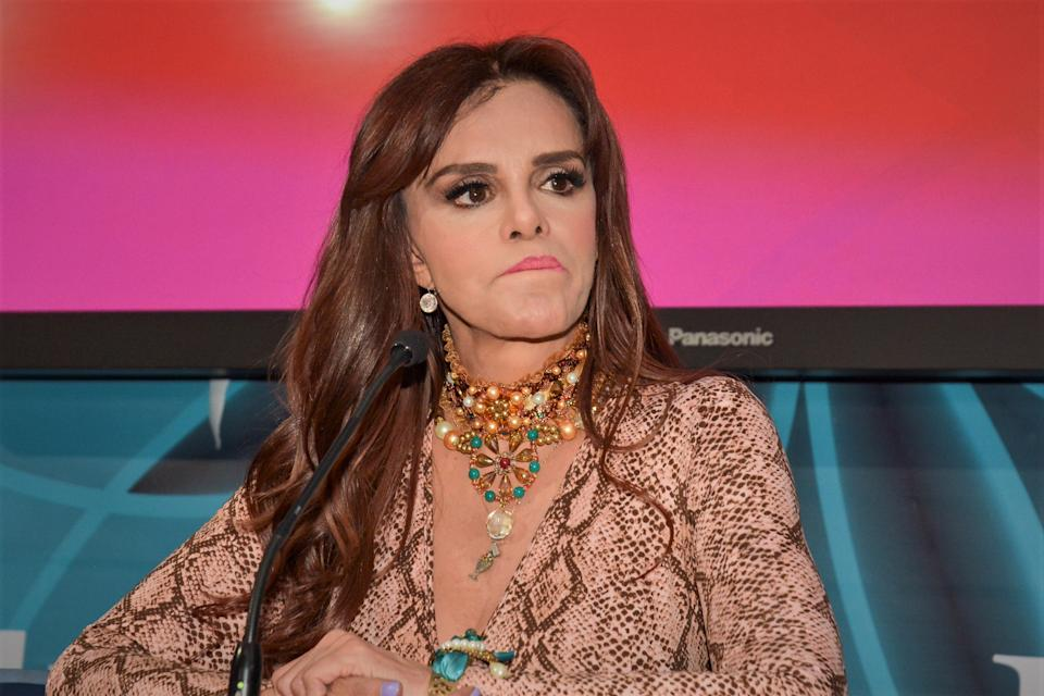 MEXICO CITY, MEXICO - JANUARY 22: Lucia Mendez attends a press conference in remembrance of 'El extraño retorno de Diana Salazar'  of the TLNovelas channel on January 22, 2020 in Mexico City, Mexico. (Photo by Medios y Media/Getty Images)