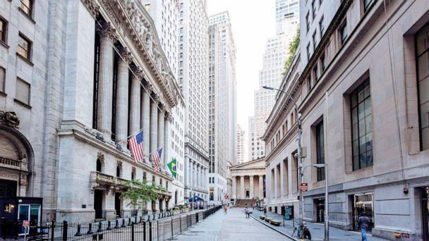 PHOTO: Wall Street and New York Stock Exchange are pictured in Downtown Manhattan, New York City.  (Alexander Spatari/Getty Images)