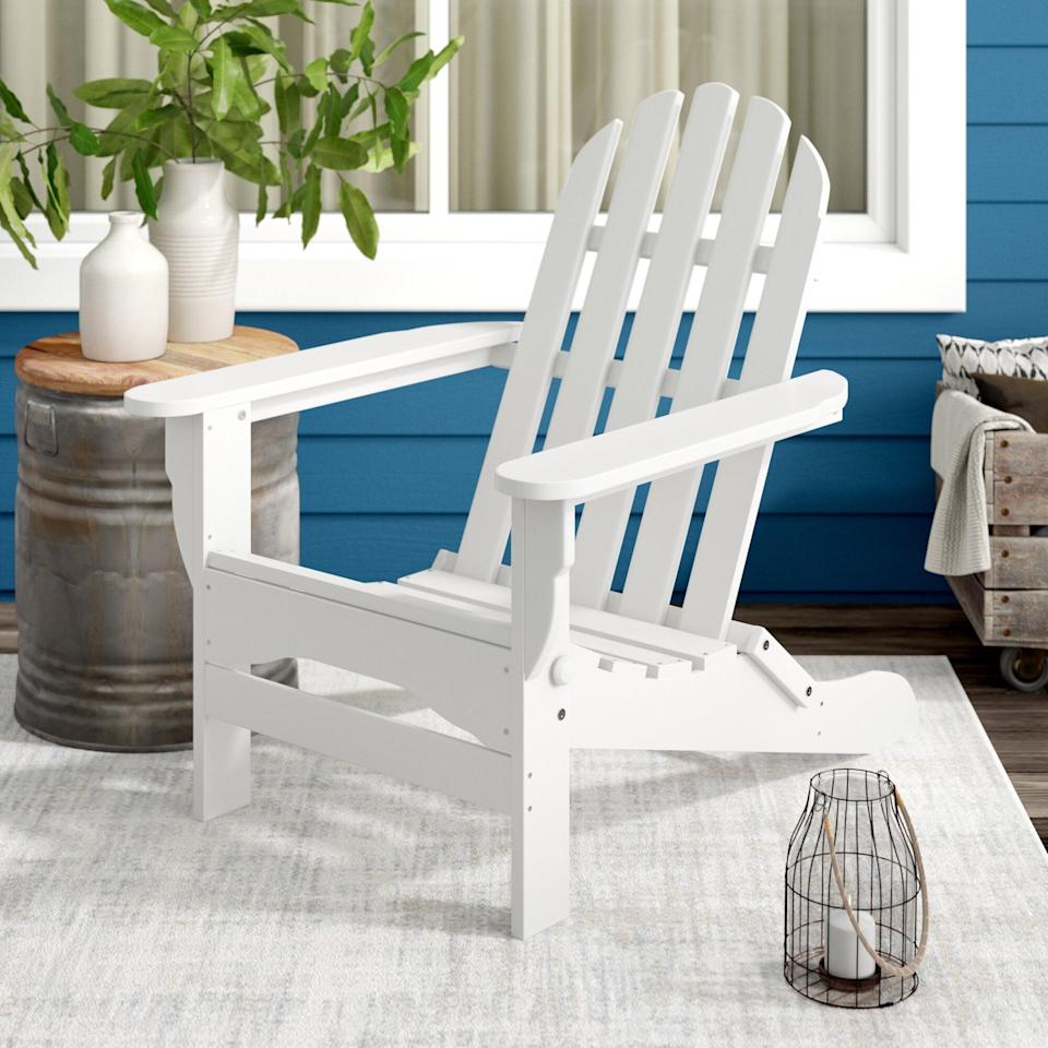 <p>The <span>Hartington Plastic Folding Adirondack Chair</span> ($225, originally $299) would look great on a front porch.</p>