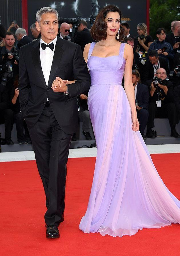 Despite their self-confessed lack of sleep, the pair appeared to be glowing on the red carpet. Source: Getty