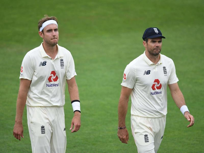 England fast bowlers Stuart Broad and James Anderson: Getty