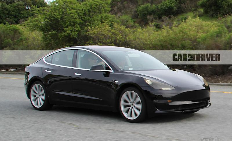 2017 tesla model 3 first pics of the production ready version. Black Bedroom Furniture Sets. Home Design Ideas