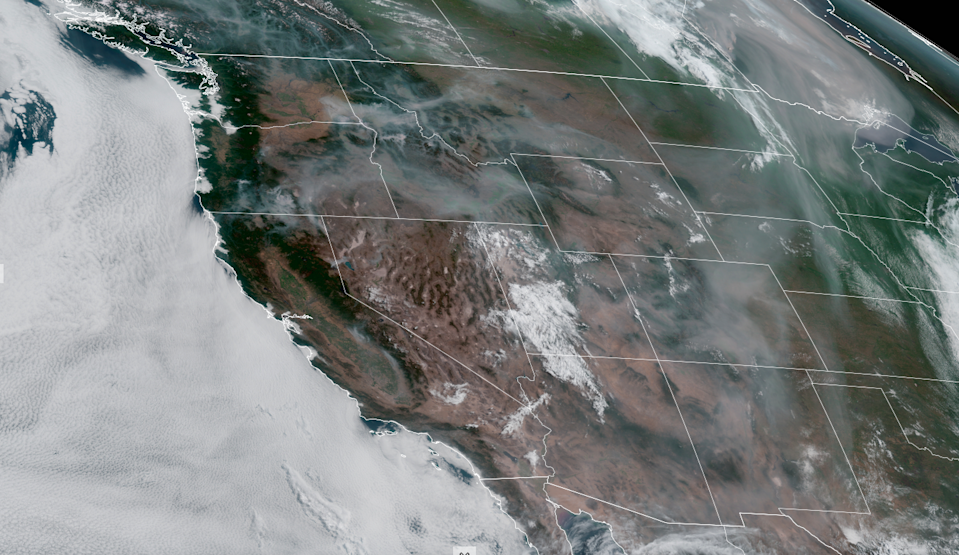 smoke from wildfires over the US west coast. (cira.colostate.edu)