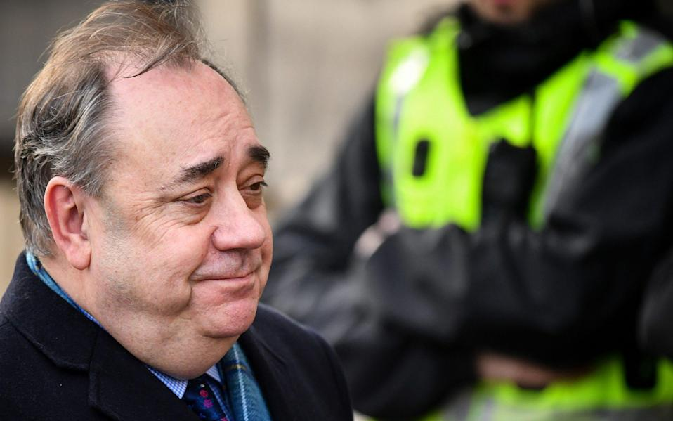 The Scottish Parliament took down evidence from its website in which Mr Salmond alleged First Minister Nicola Sturgeon broke the ministerial code - Getty
