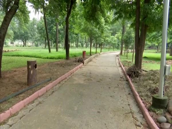 Parks in Hyderabad were opened after six months of the COVID-19 lockdown. (Photo/ANI)