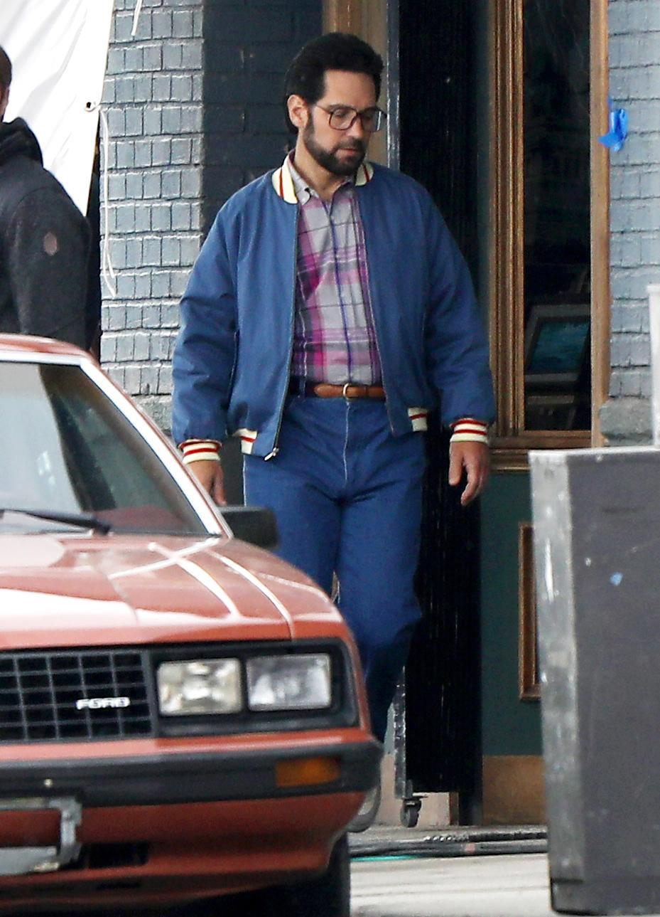 <p>On Monday, an almost unrecognizable Paul Rudd films <em>The Shrink Next Door</em> in Los Angeles.</p>