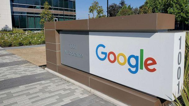 PHOTO: In this May 8, 2019, file photo, a sign is pictured outside a Google office near the company's headquarters in Mountain View, Calif. (Paresh Dave/Reuters, FILE)
