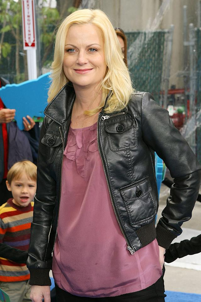 """<a href=""""http://movies.yahoo.com/movie/contributor/1800352171"""">Amy Poehler</a> at the Los Angeles premiere of <a href=""""http://movies.yahoo.com/movie/1809918074/info"""">Monsters vs. Aliens</a> - 03/22/2009"""