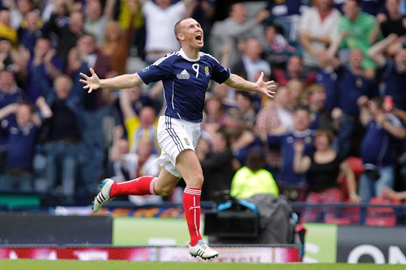 Scotland's Kenny Miller, pictured in 2011, scored his 100th goal for Rangers