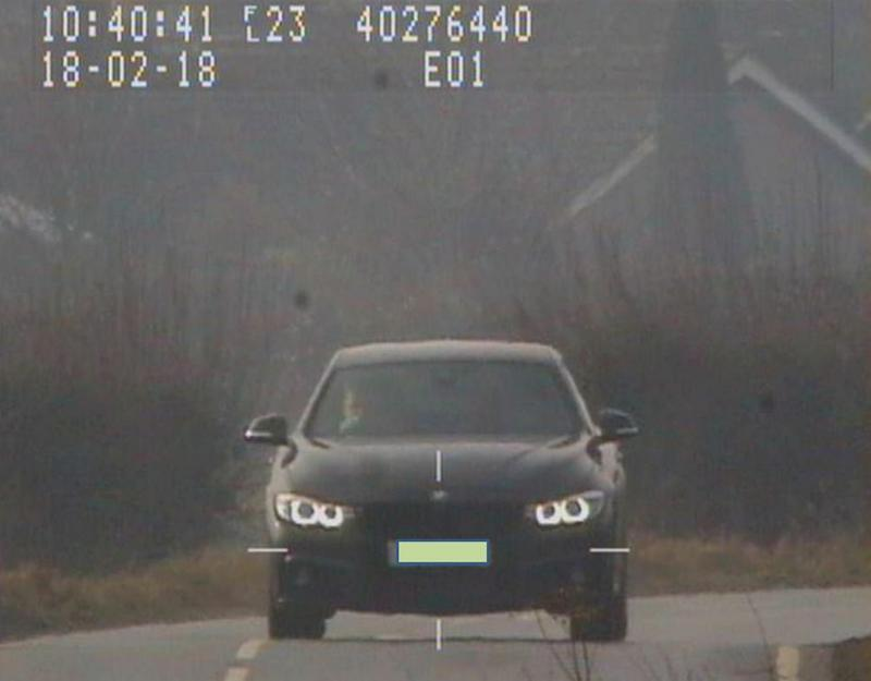 Nicholas Burke was driving in excess of the 60mph speed limit - but the 'laser jammer' fitted to his BMW meant officers were unable to take a reading of his speed (SWNS)