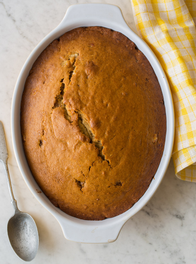 """<p>Why waste old bananas when you can turn them into this cake? </p><p><strong>Get the recipe at <a href=""""http://www.spoonforkbacon.com/2014/03/chai-banana-cake/"""" rel=""""nofollow noopener"""" target=""""_blank"""" data-ylk=""""slk:Spoon Fork Bacon"""" class=""""link rapid-noclick-resp"""">Spoon Fork Bacon</a>.</strong> </p>"""