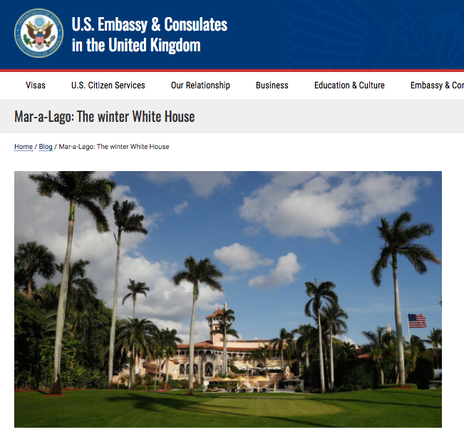 The blog post on the State Department site