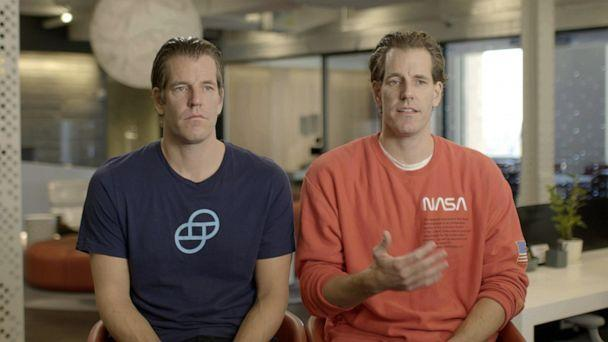 PHOTO: Cameron and Tyler Winklevoss speak out in the ABC News Originals documentary 'GameStopped.' (ABC News)