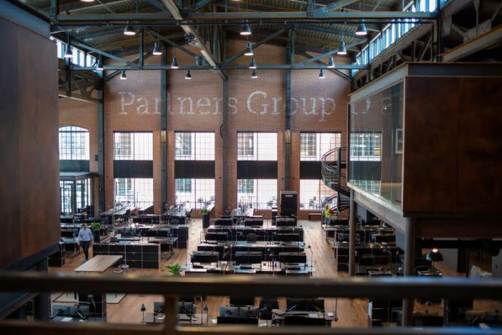 An interior view of Partners Group's U.S. campus in Broomfield