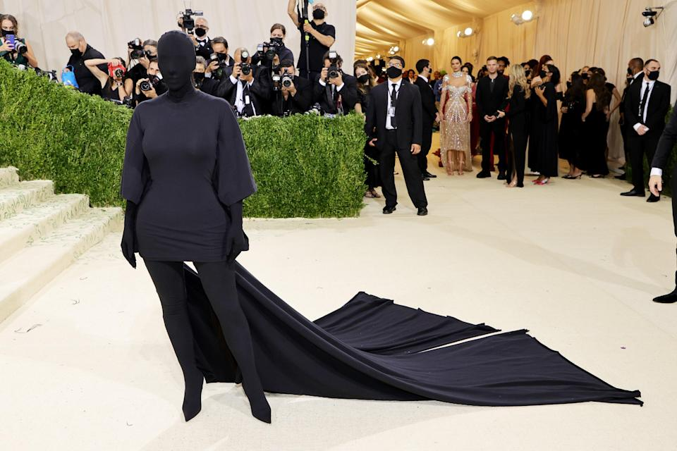 """<h1 class=""""title"""">Kim Kardashian, The 2021 Met Gala Celebrating In America: A Lexicon Of Fashion - Arrivals</h1><cite class=""""credit"""">Getty</cite>"""
